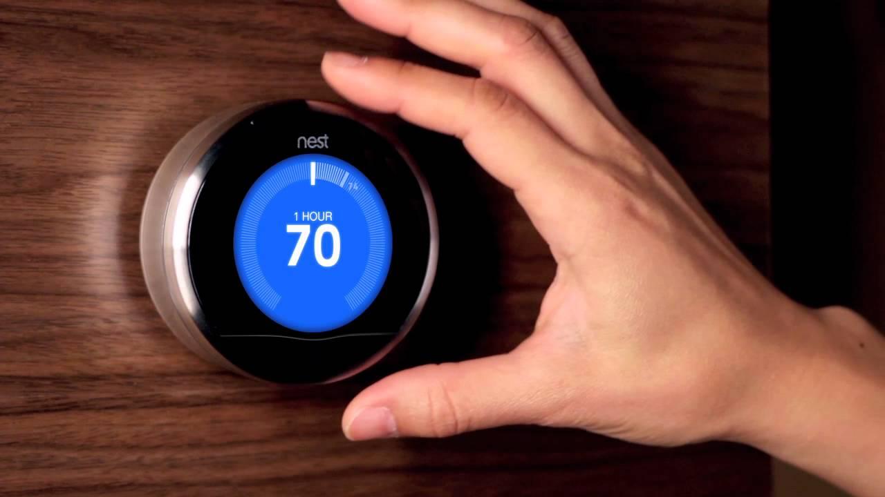 A Nest smart thermostat